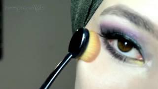 Mor - Turkuaz Tonlarında Makyaj 💜 #İnstagram