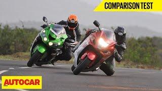 Suzuki Hayabusa VS Kawasaki Ninja ZX-14R   Comparison Test   Autocar India