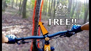 HIGH SPEED BAR SHOT STRAIGHT TO THE TREE!! // Mountain Biking Raccoon Mountain in Chattanooga, TN
