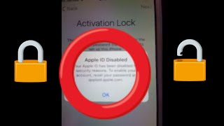 APPLE ID DISABLED Activation Lock Bypass any iOs iPhone iPad 4 4s 5 5s 5c 6 6s plus 7 7s 8 x