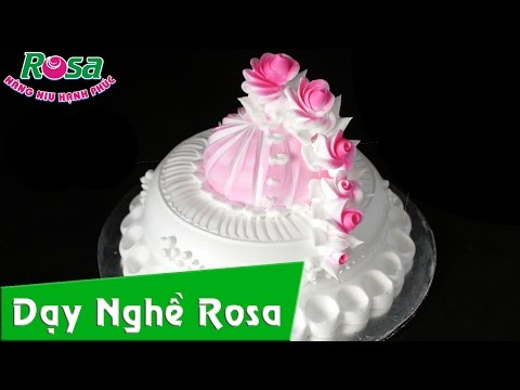 Làm Bánh Kem Sinh nhật kiểu Hoa Hồng