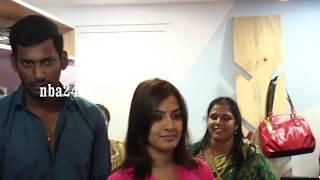 Actor Vishal and Varalaxmi Sarathkumar Inagurates DIVI Store in Rangarajapuram | nba 24x7