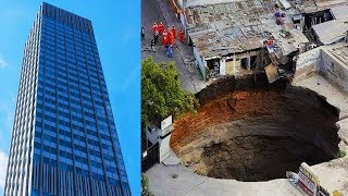 Top 10 Times The Earth Swallowed Things On An EPIC Scale