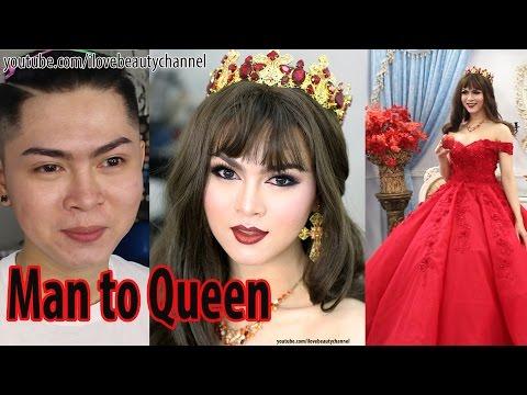 Xxx Mp4 Man To Woman Makeup Transformation Boy To Beauty Queen ✔ 3gp Sex