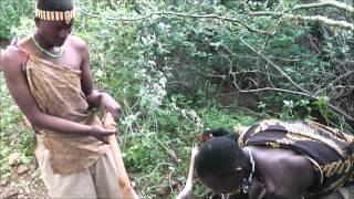 Hadzabe tribe hunting a kudu