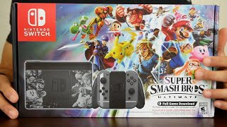 Unboxing the New Super Smash Bros. Ultimate Edition Nintendo Switch Console!