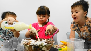 Baby VS Challenge Cake Baking Real Food Kids Eggs Surprises Toy FAMILY FUNNY VIDEO