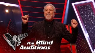 Tom Jones Performs 'It's Not Unusual': Blind Auditions | The Voice UK 2018