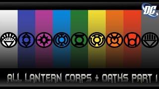[แลนเทิร์นทุกสีกับคําปฎิญาณ 1][All lantern corps + oaths 1]comic world daily