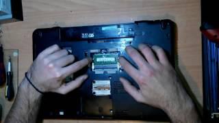 Αποσυναρμολόγηση Toshiba satellite C660D (disassemble)