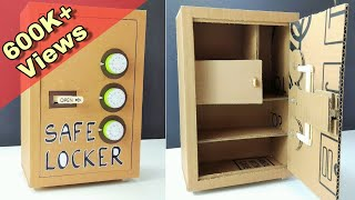 How to Make SAFE LOCKER from Cardboard at Home with 3 Safety Locks
