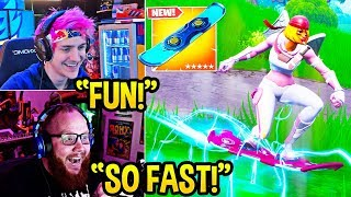 "STREAMERS USE *NEW* ""DRIFTBOARDS"" (Hoverboard) ITEM in FORTNITE! - Fortnite FUNNY Moments"