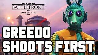 GREEDO SHOOTS FIRST!! Star Wars Battlefront DLC Gameplay - Outer Rim / DLC Heroes (Season Pass PS4)