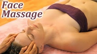 HD Massage Relaxing Head, Face & Neck Therapy, Oil Techniques, How To ASMR Music