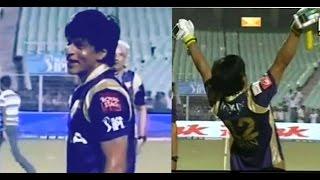 Sunil Gavaskar & Shane Warne bowling to Shahrukh Khan l IPL Fun l KKR