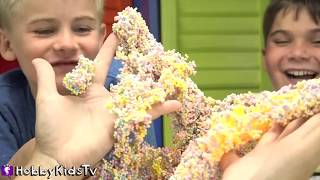 PlayFoam Creations PARTY! Surprises + Make SpongeBob, Sushi Hat? HobbyKidsTV