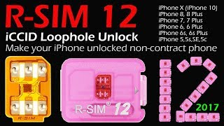 2018 NEWEST VERSION R-SIM 12 Smart Nano Unlock Card For iPhone X/8/8P/7/7P/6P/6/6S,