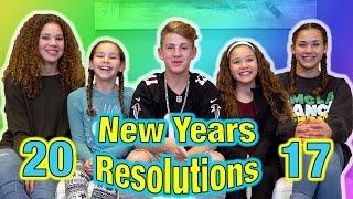 2017 New Years Resolutions! (MattyBRaps vs Haschak Sisters)