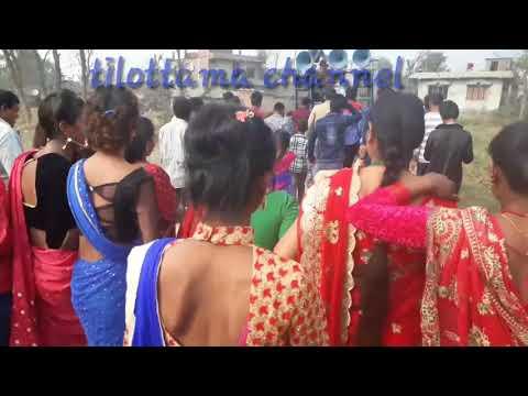 Tharu wedding band Baja dance 17   (Rupandehi Nepal)