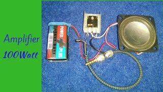 Make Mini Amplifier 100Watt With 2Sc 2625 Transistor Input 9 Volt Homemade New Project 2018