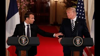 Macron lobbies Trump to keep and improve Iran nuclear deal as