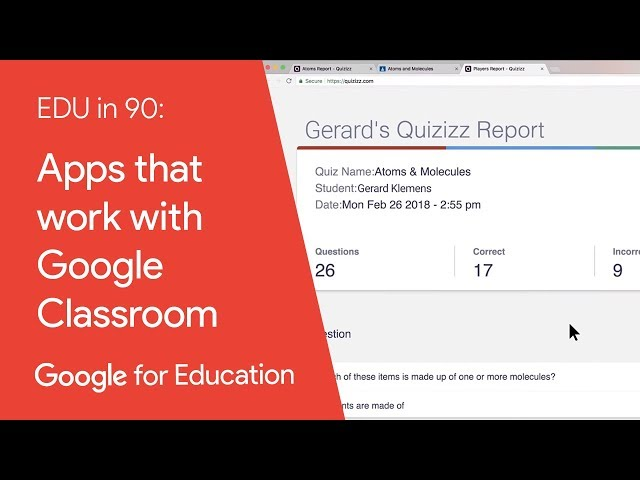 EDU in 90: Apps that work with Google Classroom