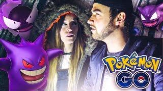 Pokemon GO (Ali + Clare) - DOUBLE GENGAR EVOLUTION! (NIGHT ADVENTURE)