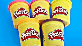 Learn Colors Play Doh Cars Peppa Pig Dragon Minion Surprise Toys Kids Finger Family Song Baby Rhymes