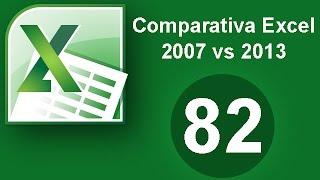 Tutorial Excel (Cap. 82) Comparativa Excel 2007 y 2013