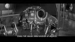 Exploring derelict space ship in rare Soviet-style SF film