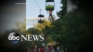 14-year-old rescued after hanging from an amusement park ride