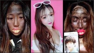 OMG Makeup Vs No Makeup 😱 Unbelievable Power Of Makeup 😱 Best Viral  Makeup Transformations 2019