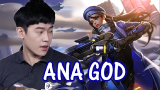 [Overwatch] Best of Ryujehong [#1World Ana] | Best Ana Moments Montage - INSANE ANA #1