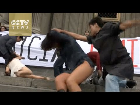 watch Peru gender violence: Thousands protest against attacks on women