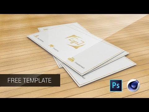 Photoshop - Cinema 4D - Business Card Design (Free Download Templates)