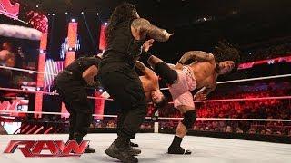 Big E Langston & The Usos vs. The Shield - Six-Man Tag Team Match: Raw, Oct. 28, 2013