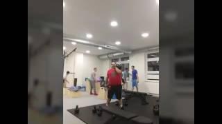 Tlusťoch v  Barbar Gymu