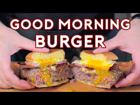 Binging with Babish Good Morning Burger from The Simpsons