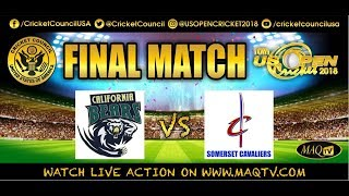 US Open Cricket 2018 - DAY 5 FINAL MATCH- LIVE FROM  Central Broward Regional Park & Stadium