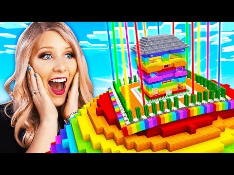 Never Break In To My Wife s Impossible Minecraft Rainbow House