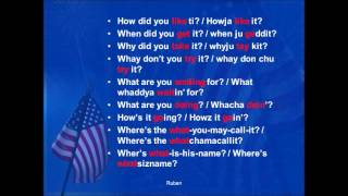 Colloquial reductions and liaisons of American language