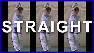 Cricket Training Batting Tips & Drilling How to Play Straight Balls in Cricket