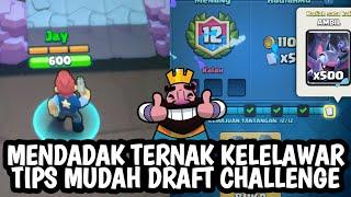 LAGI LAGI MAIN DRAFT CHALLENGE  TERNAK KELELAWAR   GIMANA REKAM DI IOS :( - CLASH ROYALE INDONESIA