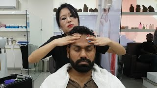 Asmr Indian female to male head massage Episode 2( Studio 11)