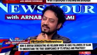 Irfan Khan Shut Mouth Of Mualvi In Thenewshour with arnab goswami times now