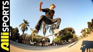 How To Nollie Kickflip, Sierra Fellers, Alli Sports Skateboard Step By Step Trick Tips