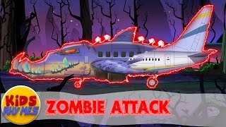 Zombie Attack |  Scary Plane Coloring Video | Video For kids | Colors book For Kids| Toy Aero Plane