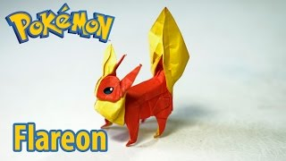 Paper Pokemon - Origami Flareon - ブースター tutorial (Henry Phạm/Aidan Johnathan)