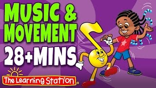 Herman the Worm ♫ Popular Action, Movement, Camp Songs & Brain Breaks Playlist for Children