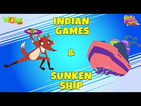 Indian Games | Sunken Ship - Eena Meena Deeka - Animated cartoon for kids - Non Dialogue